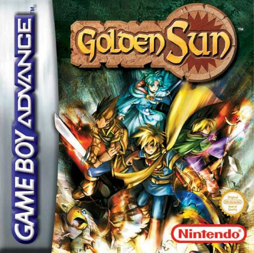 Le test de Golden Sun sur Game Boy Advance (GBA)' title='La boite du jeu GBA Golden Sun