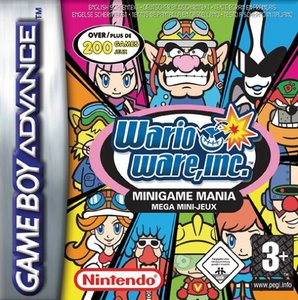 Le test de Wario Ware Inc. Mega mini jeux (minigame mania) sur Game Boy Advance (GBA)' title='La boite de Wario Ware Inc.