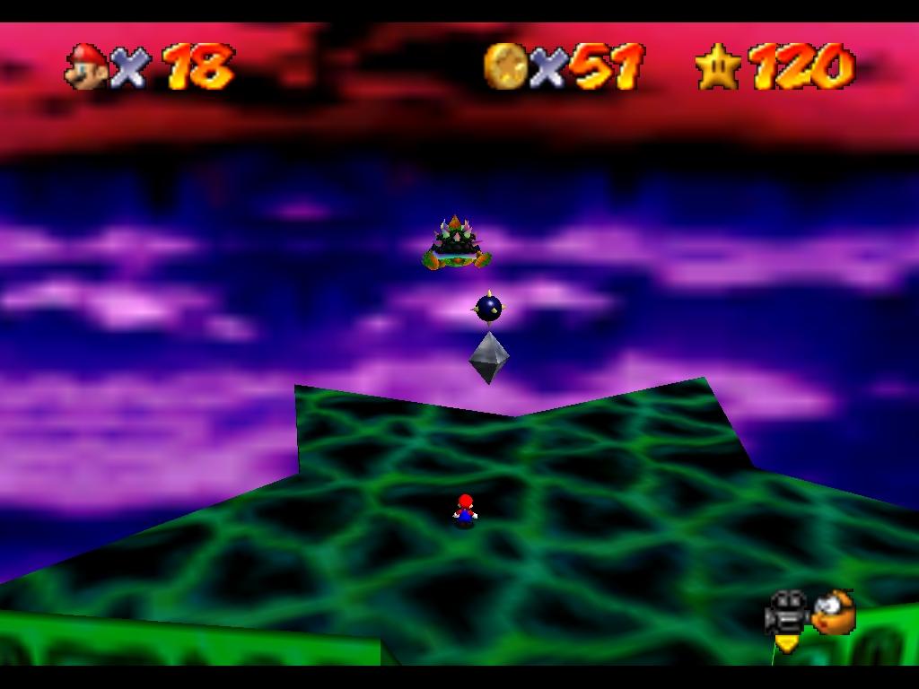 Super Mario 64 (et DS) - Le deuxième monde de Bowser : Bowser des