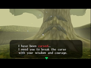Zelda Ocarina Of Time Master Quest on Game Cube : Kokiri Forest : Link's Awakening