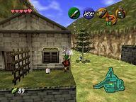 Zelda Ocarina Of Time sur N64 : village Cocorico et village Gorons