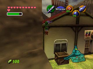 Zelda Ocarina Of Time Master Quest on Game Cube : Return to Kakarico and Kokiri village