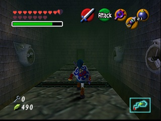 Zelda Ocarina Of Time Master Quest sur Game Cube : Le temple de l'ombre