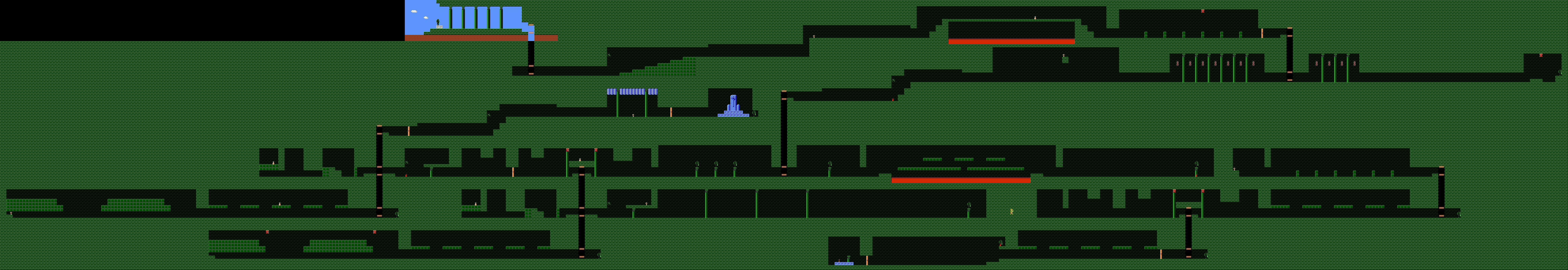 Zelda 2 - The adventure of Link sur Nes, map of fifth dungeon ...