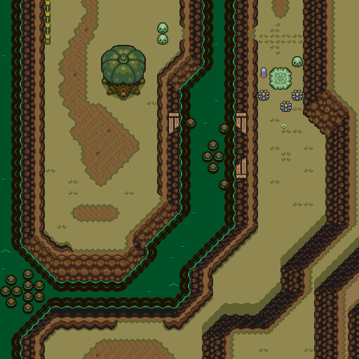 A Link To The Past Dark World Map.Zelda 3 Alttp Super Nes Dark World Map Of Zelda Iii A Link To The Past
